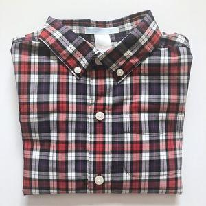 Boys Janie & Jack Red Purple Plaid Shirt 3